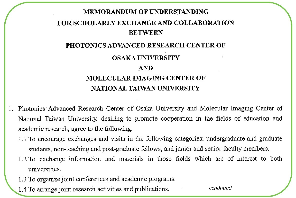 Cover the mou between mic molecular imaging center national taiwan university and parc has been agreed and signed on august 27th 2013 yelopaper Gallery
